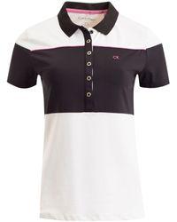 Calvin Klein | White Colour Block Polo for Men | Lyst