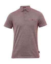 Ted Baker | Red Cro Woven Collar Cotton Polo Shirt for Men | Lyst