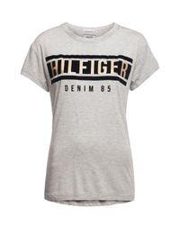 Tommy Hilfiger | Gray Logo T-shirt | Lyst
