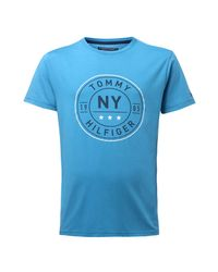 Tommy Hilfiger | Blue Stan Graphic T-shirt for Men | Lyst