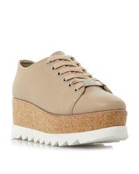 Steve Madden   Natural Korrie Sm Lace Up Flatform Brogue Shoes   Lyst