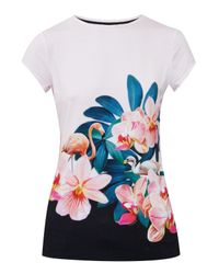 Ted Baker | Multicolor Gerinue Orchid Wonderland Fitted T-shirt | Lyst