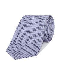 Armani | Blue Patterned Silk Tie for Men | Lyst