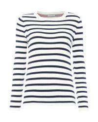 Tommy Hilfiger | White Stripe Sweater | Lyst