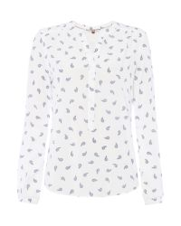 Tommy Hilfiger | White Paisley Print Blouse | Lyst