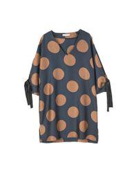 Mango | Black Polka-dot Dress | Lyst