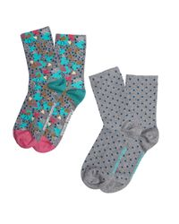 White Stuff - Blue Follow Your Heart Sock 2 Pack - Lyst