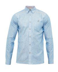Ted Baker | Blue Laavato Linen Blend Shirt for Men | Lyst