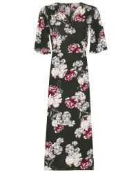 Izabel London | Green Floral Print Wrap Dress | Lyst