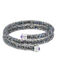 Swarovski | Crystaldust Double Bangle, Purple | Lyst