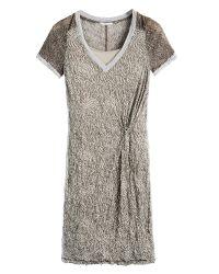 Sandwich | Brown Crinkled Printed Dress | Lyst