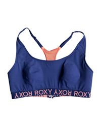 Roxy | Blue Jamlin Sports Bra | Lyst