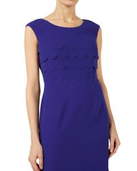 Jacques Vert   Blue Scallop Layered Dress   Lyst