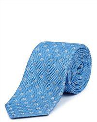 Jaeger | Blue Silk Waffle Dot Tie for Men | Lyst