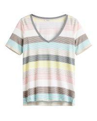 Sandwich   Multicolor Multicoloured V Neck Stripe T-shirt   Lyst