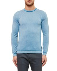 Ted Baker - Blue Textured Sweater for Men - Lyst