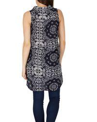 Izabel London | Blue Reflection Print Shirt Top | Lyst