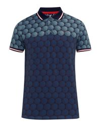 Ted Baker | Blue Birdy Ombré Cotton-blend Polo Shirt for Men | Lyst