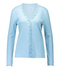 Basler | Blue Cotton Cardigan | Lyst