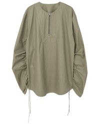 Mango | Green Adjustable Sleeves Blouse | Lyst