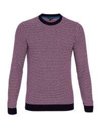 Ted Baker | Purple Coftini Crew Neck Knitted Jumper for Men | Lyst