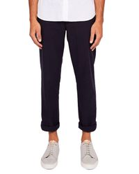 Ted Baker - Blue Koossic Classic Fit Brushed Trouser for Men - Lyst
