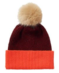 Jigsaw | Orange Iona Block Donegal Pom Hat | Lyst