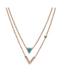 Fossil - Metallic Jf02644791 Ladies Necklace - Lyst