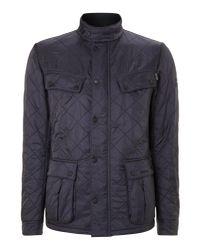 Barbour - Blue Quilted International Ariel Polar Jacket for Men - Lyst