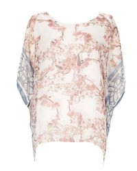 Izabel London | Multicolor Blossom Print Top | Lyst
