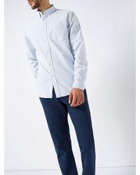 Howick - Blue Men's New Haven Stripe Long Sleeve Shirt for Men - Lyst