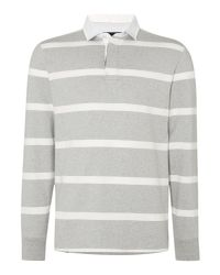 Howick - Gray Hockney Striped Rugby Shirt for Men - Lyst