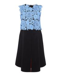 Sportmax Code - Black Fida Sleeveless Embroidered Floral Top - Lyst