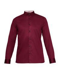 Ted Baker - Red Alexki Plain Stretch Shirt for Men - Lyst