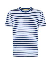 Original Penguin - Blue Men's Breton Stripe T-shirt for Men - Lyst