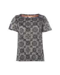 White Stuff - Gray Burn Out Jersey Tee - Lyst
