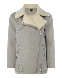 Label Lab - Gray Talin Faux Shearling Jacket - Lyst