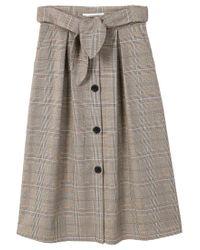 Mango   Brown Decorative Bow Skirt   Lyst