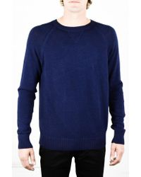 Apolis | Blue Alpaca Crew Neck Navy Sweater for Men | Lyst