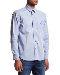 Hudson Jeans - Blue Weston Button Up Shirt for Men - Lyst
