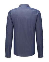 HUGO - Blue Extra-slim-fit Shirt In Mixed Denim Hues for Men - Lyst