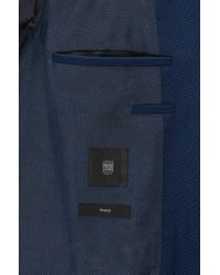 BOSS - Blue Extra-slim-fit Jacket In Stretch Virgin Wool for Men - Lyst