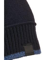 BOSS Orange   Blue Contrast-piped Hat In Italian Yarn for Men   Lyst
