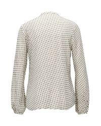 BOSS - Natural Regular-fit Fil-coupé Shirt In A Silk Blend - Lyst