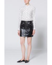 HUGO - Black Studded Leather Ballerina Flat | Shortditch Ballerina - Lyst