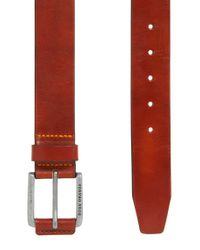 BOSS Orange | Brown Sporty Belt In Vegetable-tanned Leather for Men | Lyst