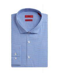 HUGO - Blue 'eastonx' | Slim Fit, Modified Spread Collar Stretch Cotton Dress Shirt for Men - Lyst