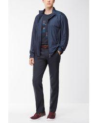 BOSS - Blue Regular-fit T-shirt In Single Jersey for Men - Lyst