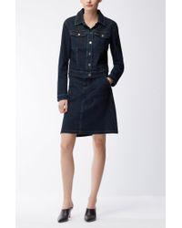 BOSS - Blue A-line Denim Skirt With Metallic Trims - Lyst