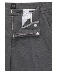 BOSS - Gray Stretch Cotton Pant, Slim Fit | Kaito W for Men - Lyst